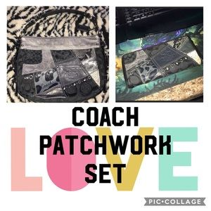 Coach patchwork Zoe Black and gray handbag/wallet
